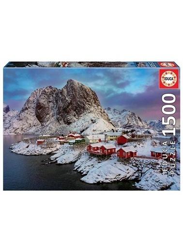 Educa Educa Puzzle 1500 Parça Norveç Lotofen Adası Kış Manzarası 17976 Renkli